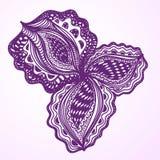 Élément floral abstrait violet pour la conception décorative Photo stock