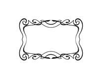 Élément floral décoratif de frontière de cadre carré calligraphique de vintage avec des Flourishes Image stock