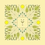 Élément floral de vecteur Impression de vecteur pour les produits naturels Images stock