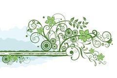 Élément floral vert de cadre Illustration Stock