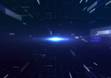 Élément géométrique abstrait de conception de technologie Image libre de droits