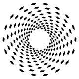 Élément géométrique de cercle Graphique circulaire avec les lignes géométriques illustration libre de droits