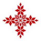 Élément géométrique de vecteur plat rouge pour la décoration d'isolement ; calibre graphique de vecteur pour la broderie, tricota illustration stock