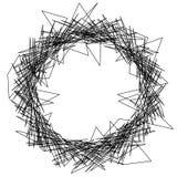 Élément géométrique texturisé approximatif et énervé Noir et blanc abstrait illustration de vecteur