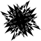 Élément géométrique texturisé approximatif et énervé Noir et blanc abstrait illustration stock