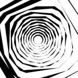 Élément géométrique texturisé approximatif et énervé Noir et blanc abstrait illustration libre de droits