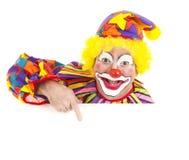 Élément gai de conception de clown Photo libre de droits