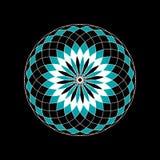 Élément graphique abstrait d'ornement de cercle sur un fond noir illustration stock