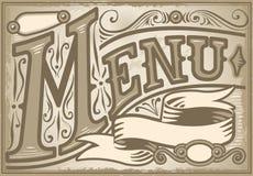 Élément graphique de vintage pour le menu Image libre de droits