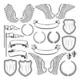 Élément héraldique pour l'insigne médiéval, conception de crête illustration libre de droits