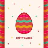 Élément heureux de design de carte de Pâques Photo stock