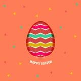 Élément heureux de design de carte de Pâques Image stock
