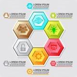 Élément infographic de conception d'hexagone de vecteur EPS10 Photo stock