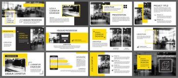 Élément jaune et blanc pour la glissière infographic sur le fond RP illustration libre de droits