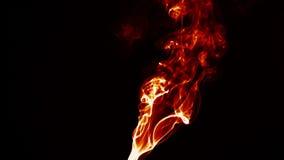 Élément liquide brûlant de fumée du feu abstrait clips vidéos
