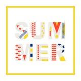 Élément moderne de conception de bannière d'été Photographie stock libre de droits