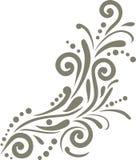 Élément ornemental olive foncé pour la conception Image libre de droits