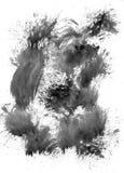 Élément peint par noir Photographie stock libre de droits