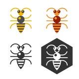 Élément plat de vecteur d'abeille abstraite Photographie stock libre de droits