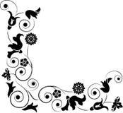 Élément pour la conception, fleur faisante le coin, vecteur Image stock