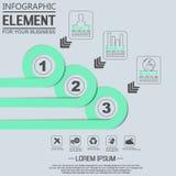 Élément pour le chiffre géométrique cercles de recouvrement de calibre infographic de diagramme Image stock