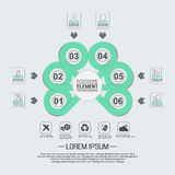 Élément pour le chiffre géométrique cercles de recouvrement de calibre infographic de diagramme Images libres de droits