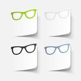 Élément réaliste de conception : verres Image libre de droits
