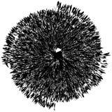 Élément radial géométrique Géométrique concentrique et radial abstrait images stock