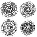 Élément radial géométrique Géométrique concentrique et radial abstrait image stock