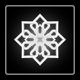 Élément rond de conception d'abrégé sur modèle mandala Huit ont dirigé le modèle circulaire Image stock
