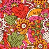 Élément rond pour livre de coloriage Configuration florale noire et blanche Photographie stock libre de droits