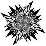 Élément texturisé approximatif et énervé Noir et blanc abstrait illustration libre de droits