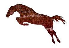 Élément tricoté de Bourgogne, brun, fleurs beiges sous forme de cheval Image libre de droits