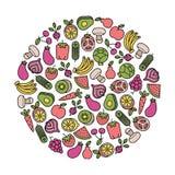 Élément végétarien de conception Image libre de droits