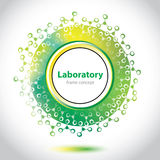 Élément verdâtre abstrait de cercle de laboratoire. Image libre de droits