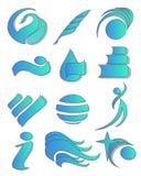 Éléments 01 de logo illustration stock