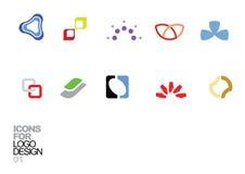 Éléments 01 de vecteur de conception de logo Photos stock