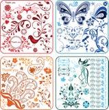 Éléments 2/2 de conception florale photos stock