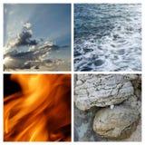4 éléments Images libres de droits