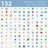 Éléments abstraits colorés pour votre conception Photos stock