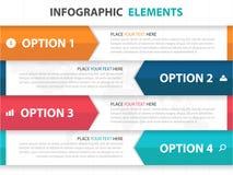 Éléments abstraits d'Infographics d'affaires de label de flèche, illustration plate de vecteur de conception de calibre de présen illustration libre de droits
