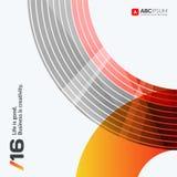 Éléments abstraits de conception de vecteur pour la disposition graphique Image libre de droits