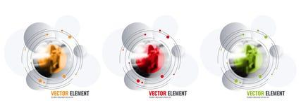 Éléments abstraits de conception de vecteur pour la disposition graphique Photos stock