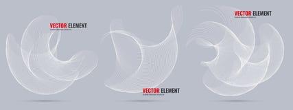 Éléments abstraits de conception de vecteur pour la disposition graphique Photo libre de droits