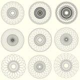 Éléments abstraits de guilloche de vecteur sur le fond blanc Utilisation pour Images libres de droits