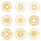 Éléments abstraits de guilloche de vecteur sur le fond blanc Utilisation pour Photos libres de droits