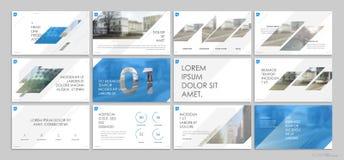 Éléments bleus de calibres de présentation sur un fond blanc Photos libres de droits
