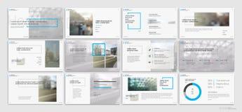 Éléments bleus de calibres de présentation sur un fond blanc Photographie stock libre de droits