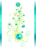 éléments bleus de conception floraux Photos stock
