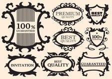 Éléments calligraphiques de conception Images libres de droits